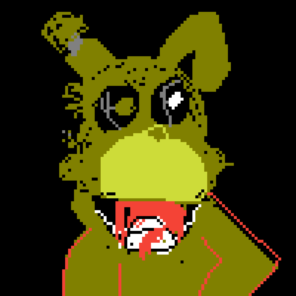 Pixilart - Fnaf 3 Springtrap by Anonymous