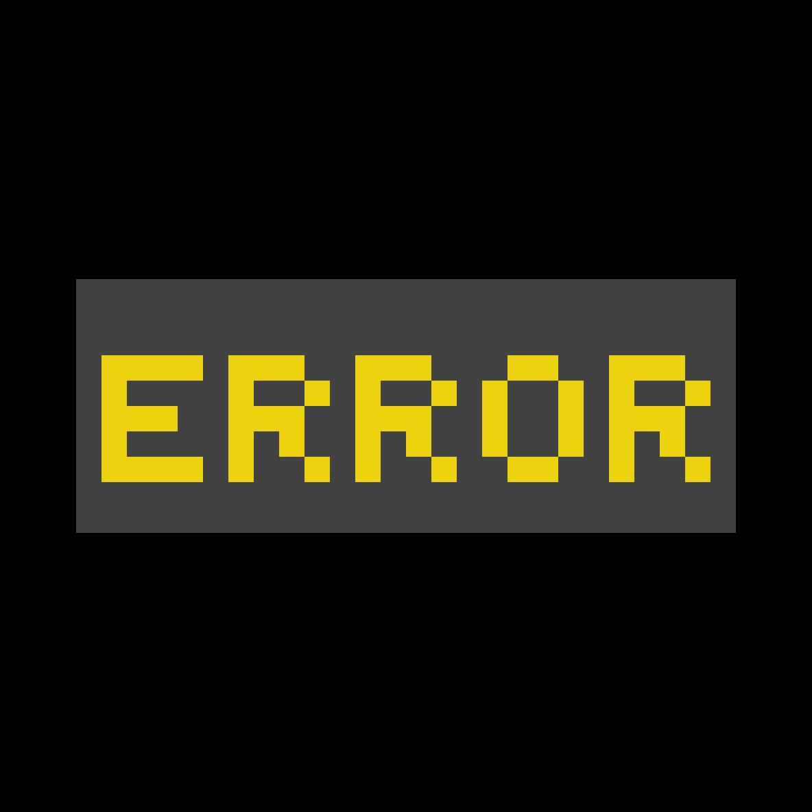Error by balderasdiiana