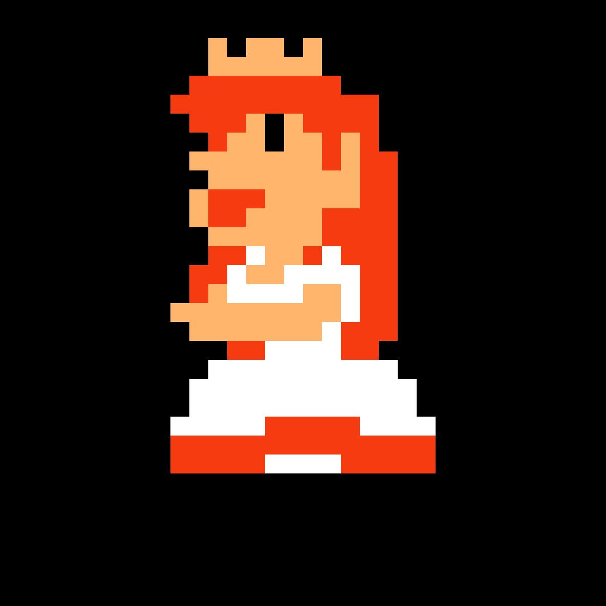 Pixilart Princess Peach Super Mario Maker By Victoria Rose