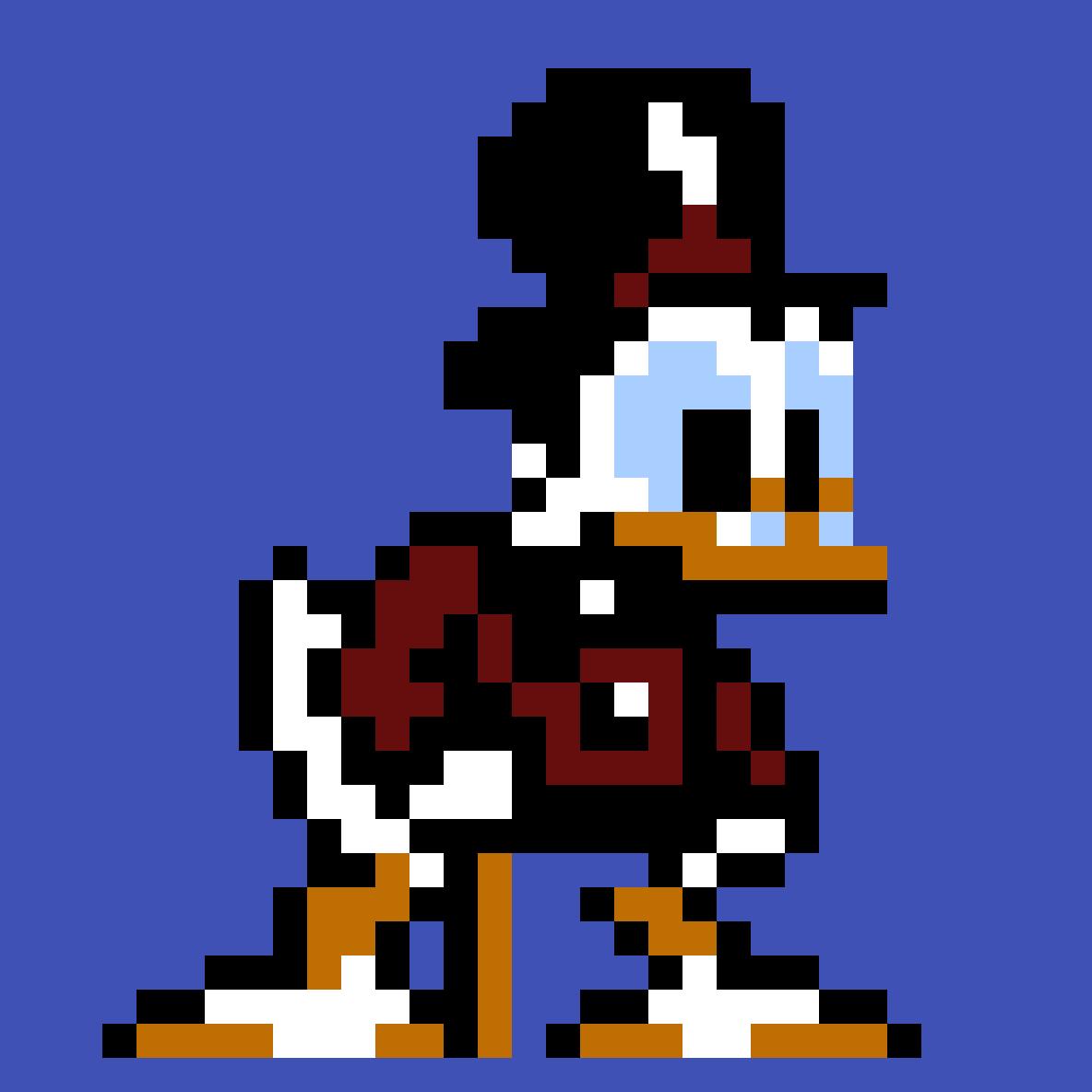 Duck Tales 8-bit Pixel Art By Pattison