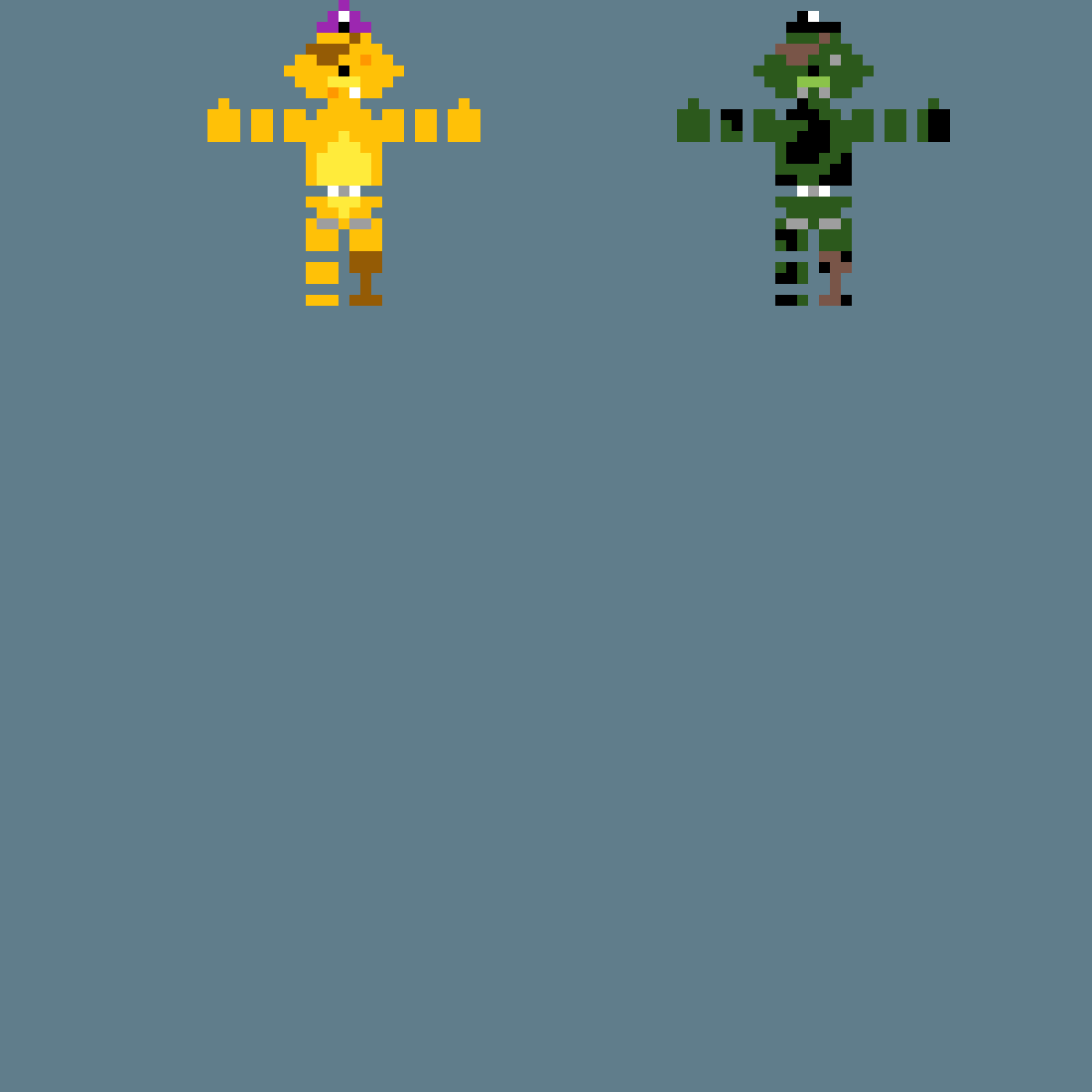 Golden Foxy and Foxtrap (FNaF) by srg050907