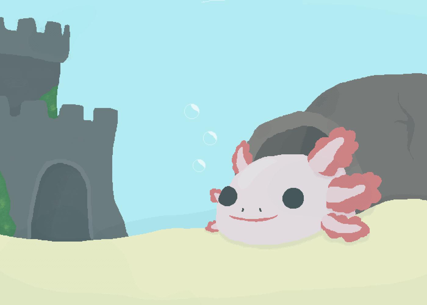 An Axolotl by Dat-Axolotl