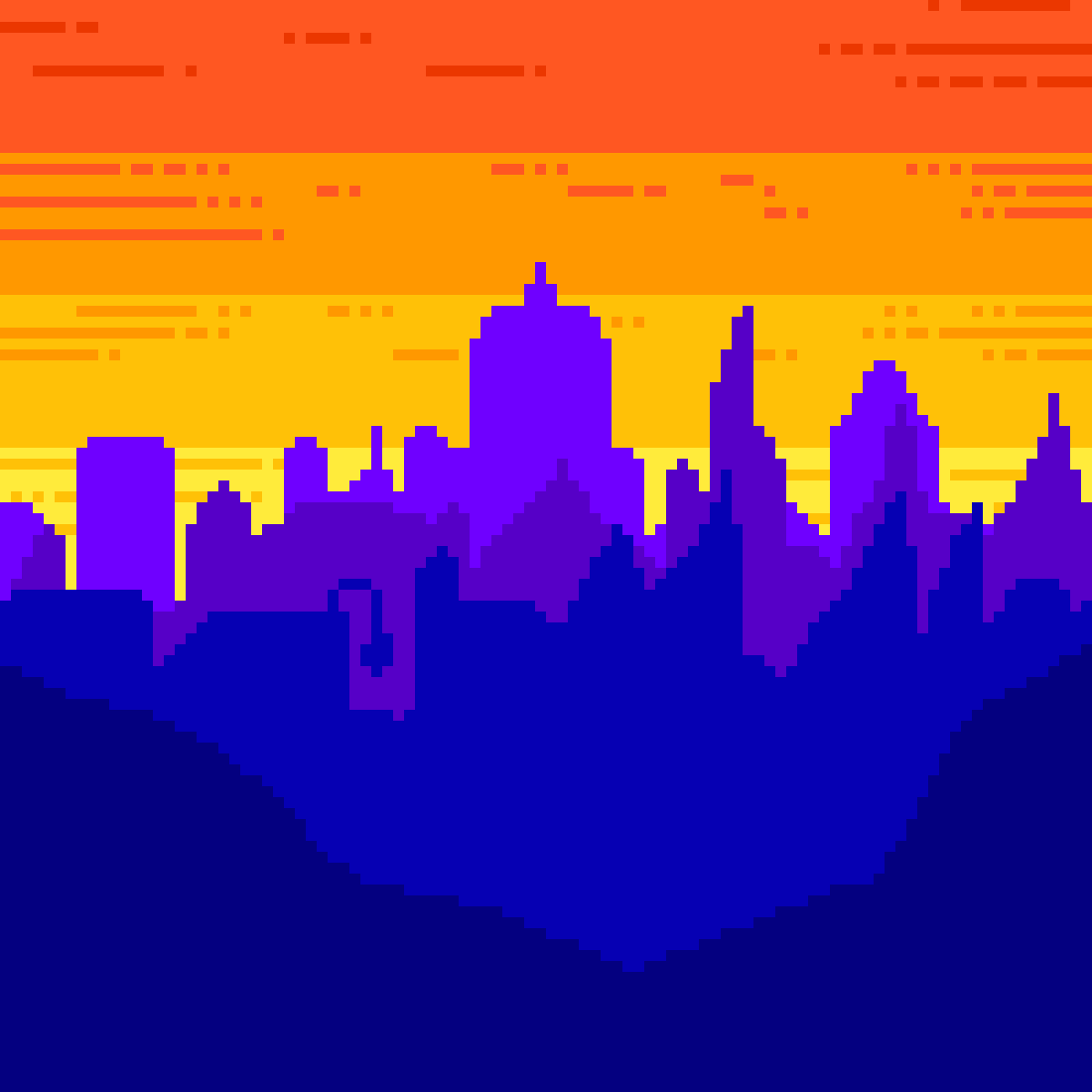 Sunset In city by IPolar