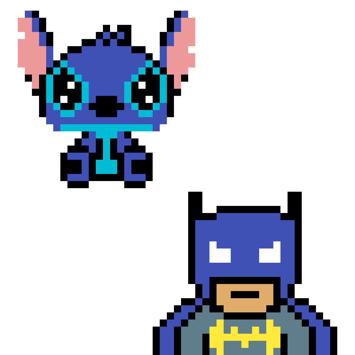 Stich and batman by Tpera
