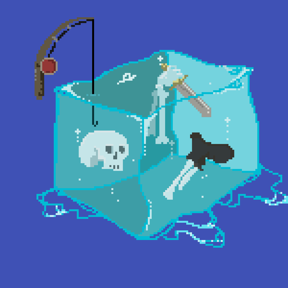 FISHING IN A GELATINOUS CUBE by INSAN3CTRL