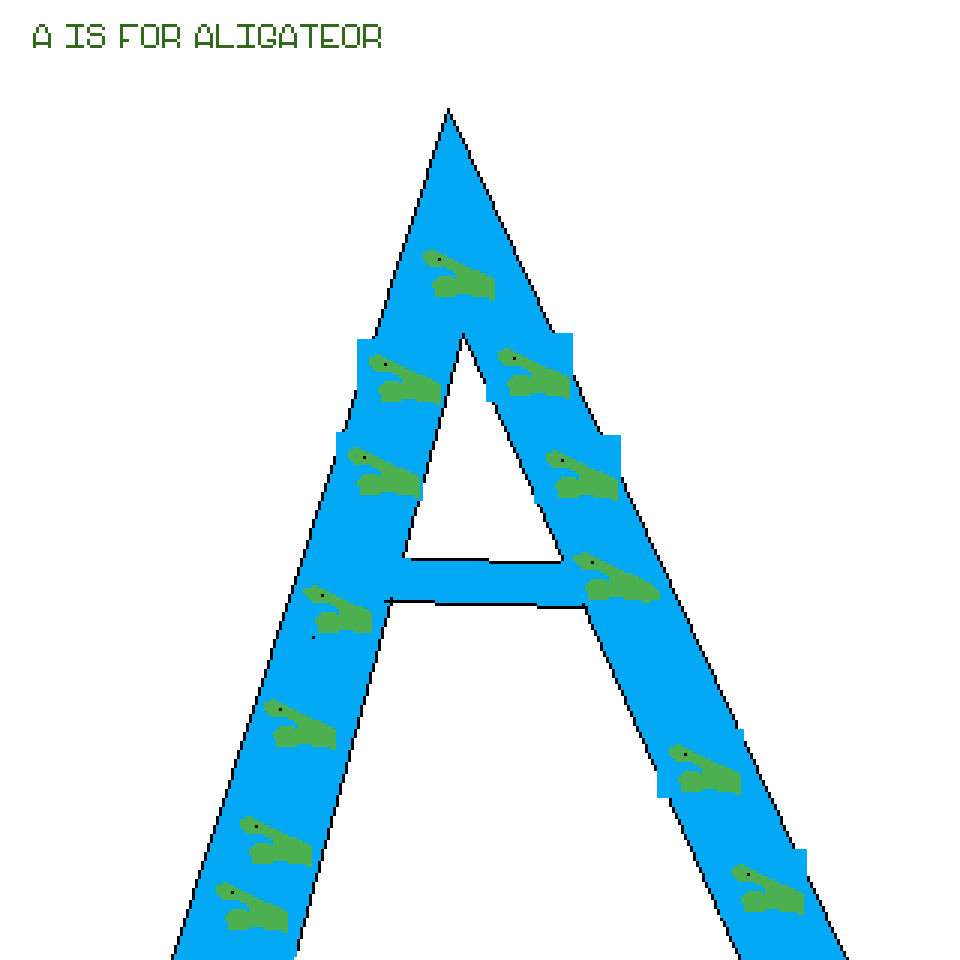 A is for alligator  by Exlipze