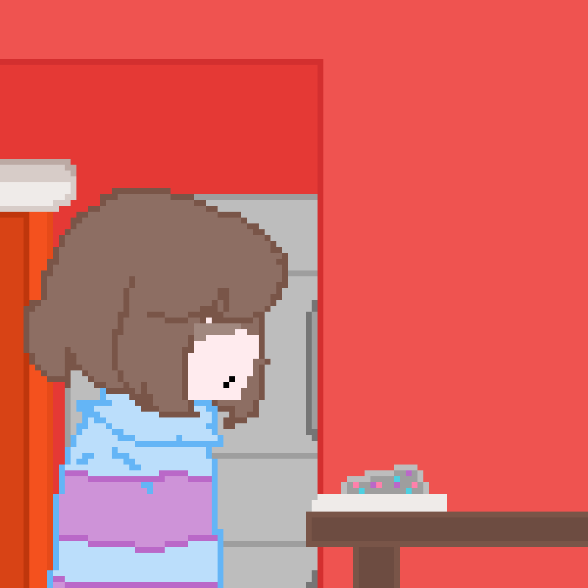 Frisk and the pet rock