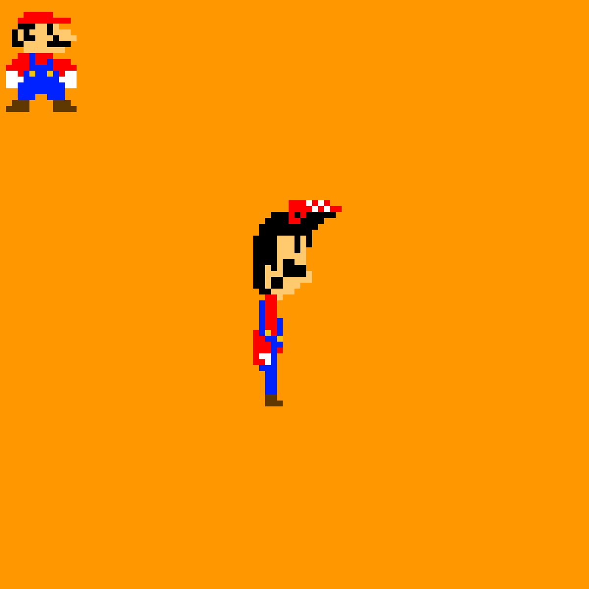 Mario in the style of a different nes game by Garfpixelfield