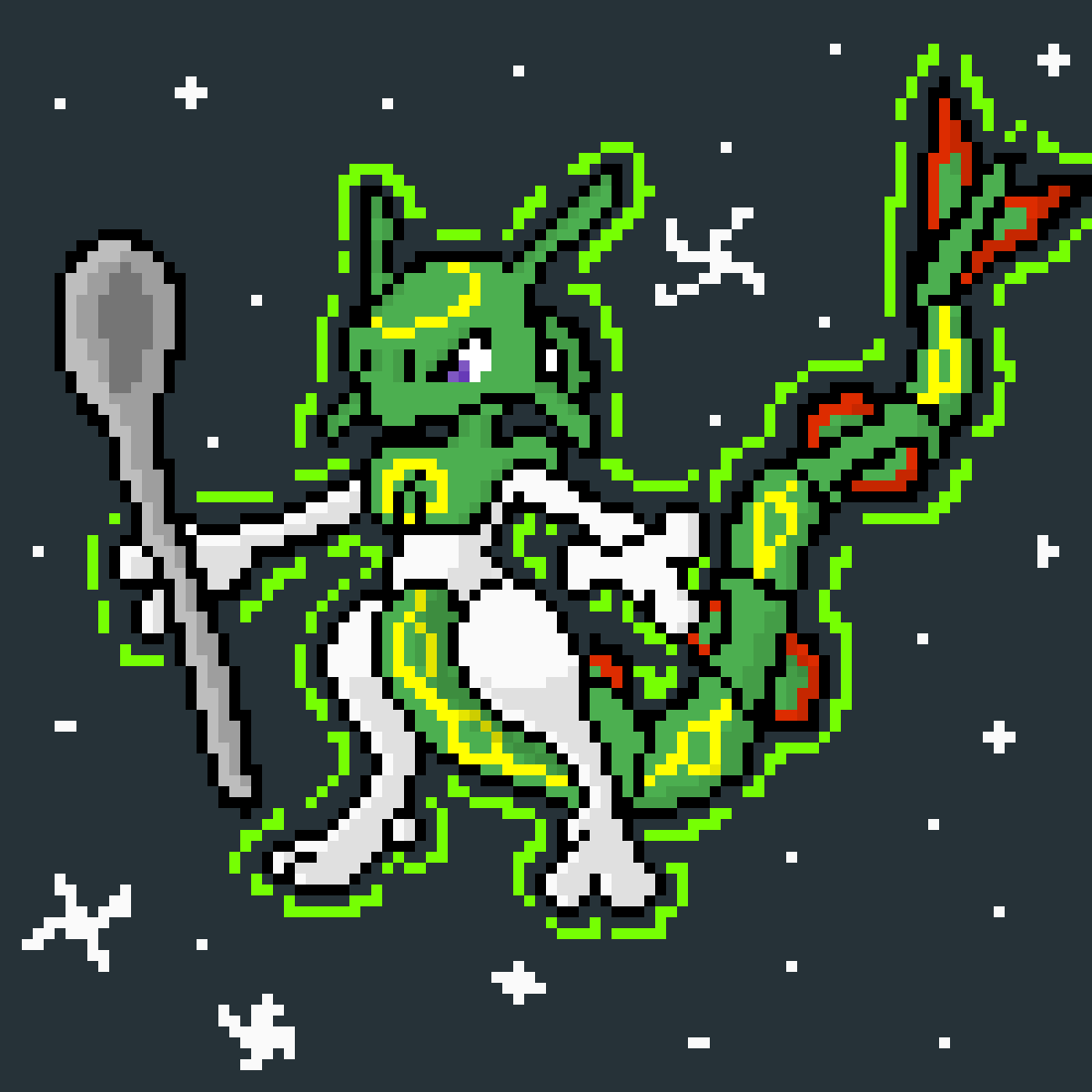 I Present Thee Mewquaza! (Rayquaza, Mewtwo)