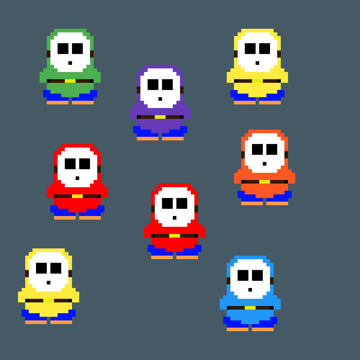 Shy Guys by MEGA-gamer25
