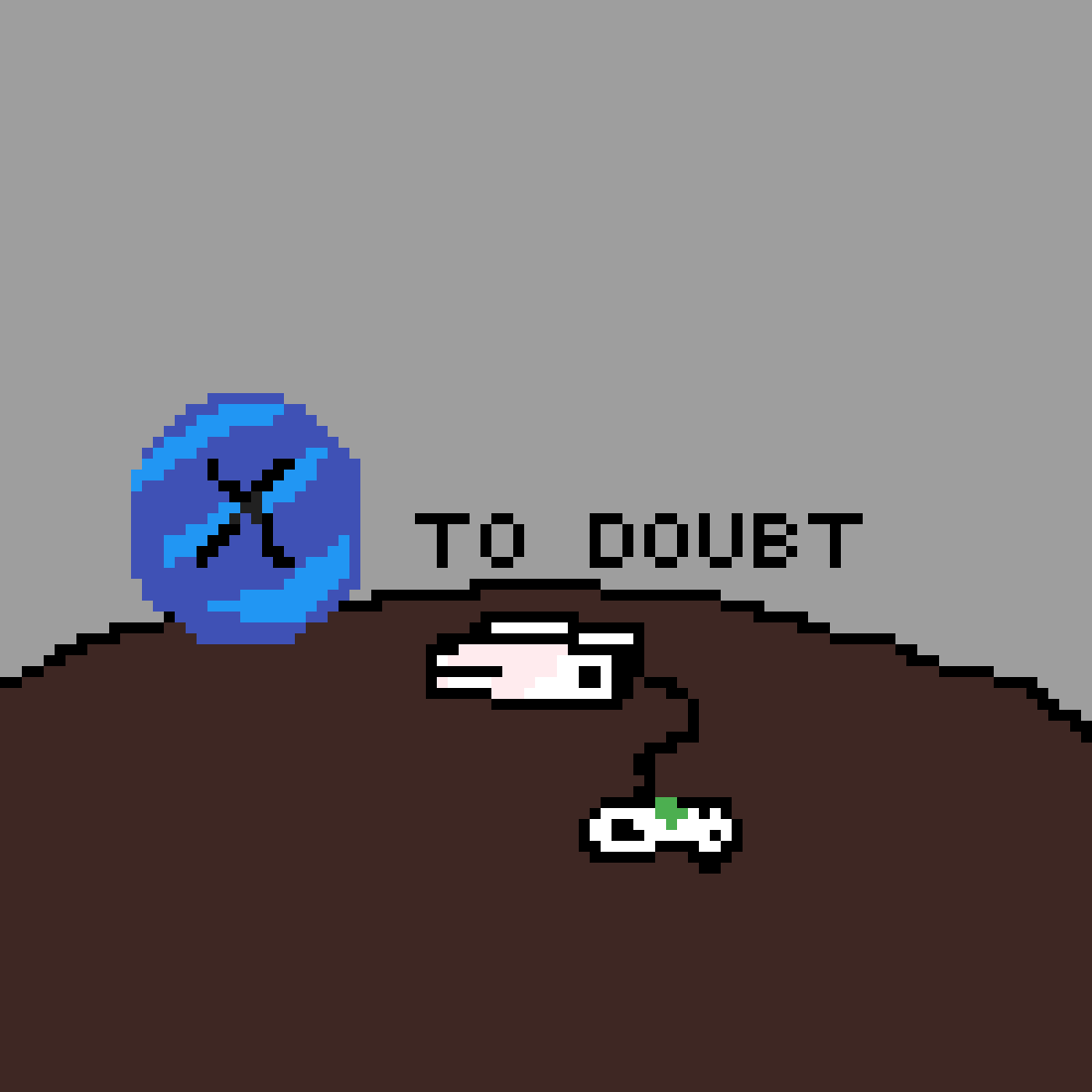 X to doubt by NicDraws42