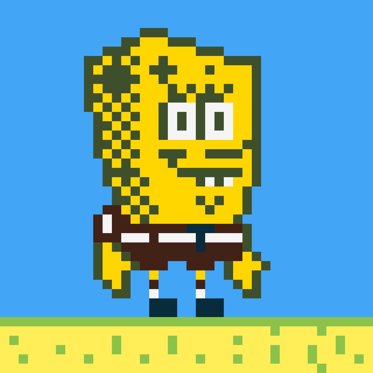 Editing 8 Bit Spongebob Squarepants Free Online Pixel Art Drawing Tool Pixilart