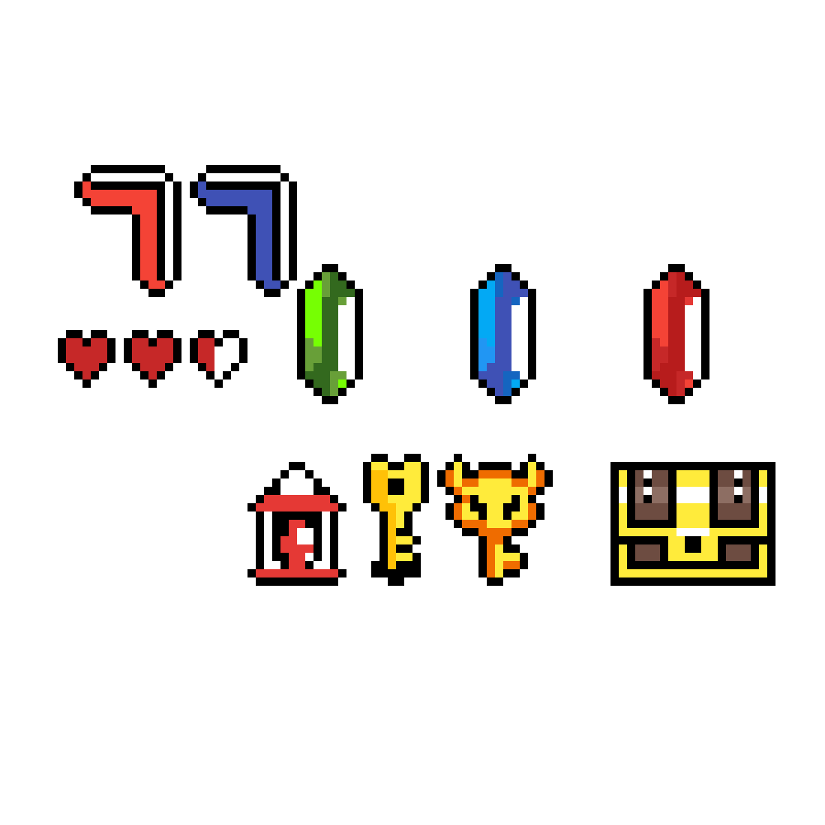 Pixilart - Legend Of Zelda Link To the Past Items by
