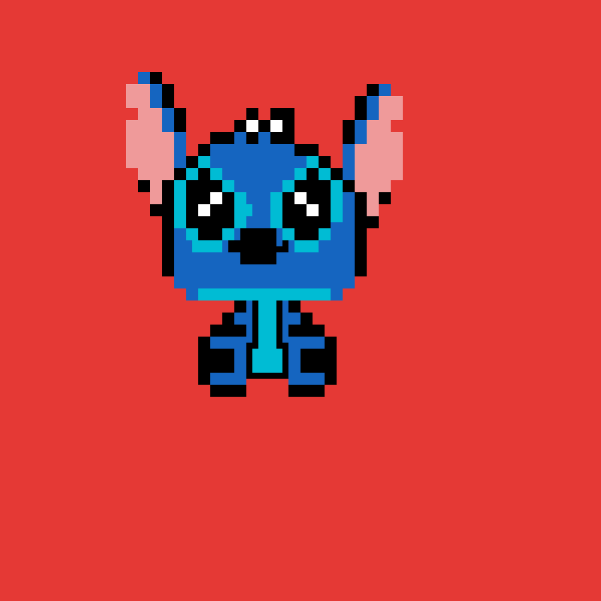 i drew stitch only in 5 mins by hello-hell