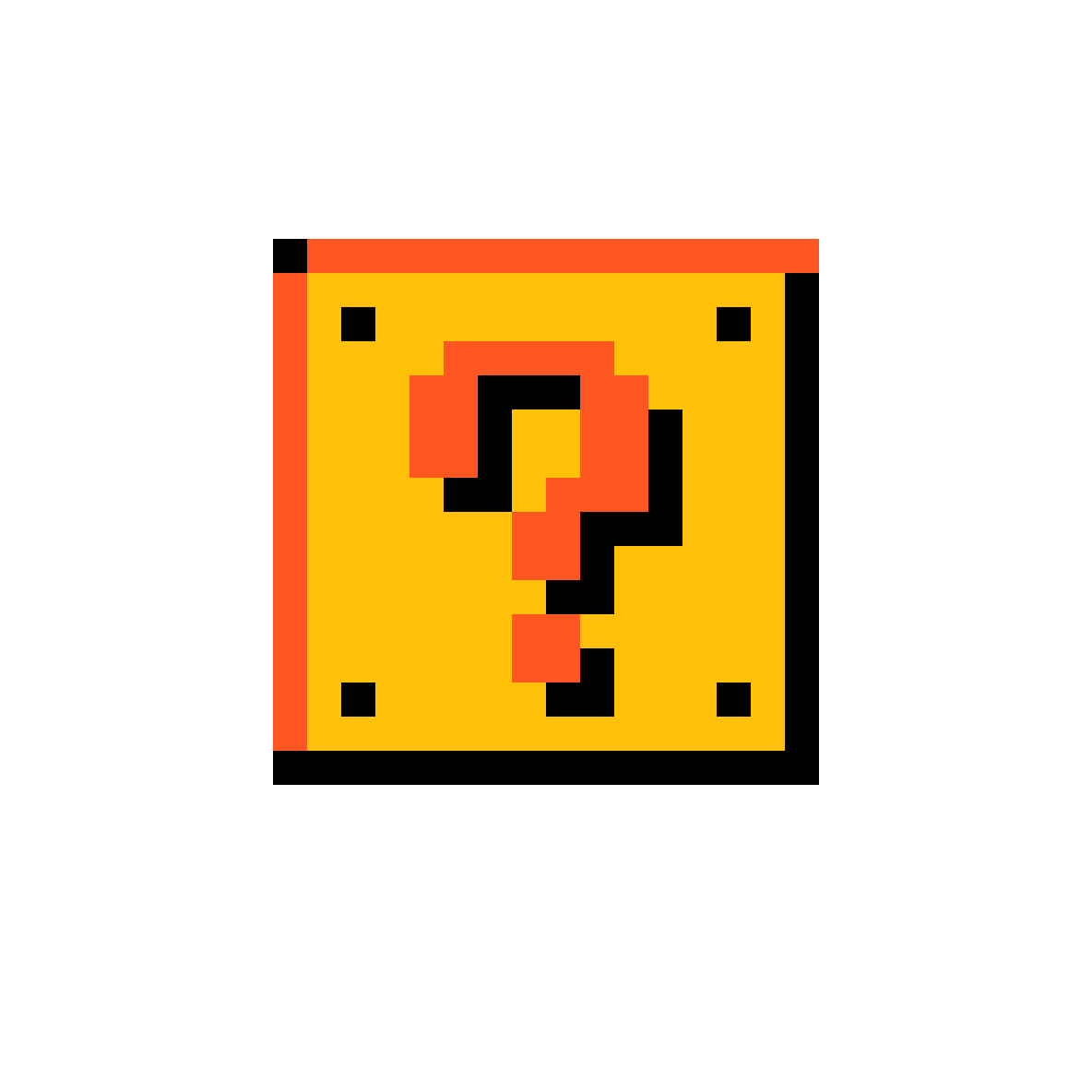 Pixel Mario Question Mark Block By Lord-Vortech