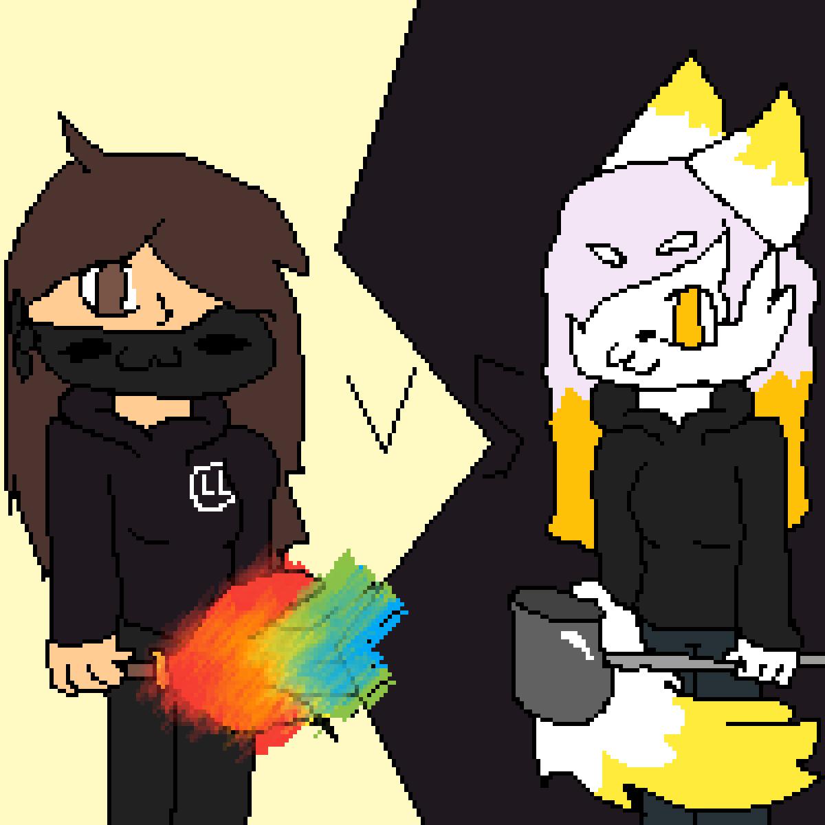 Lizzy vs. Topaz by XxLazyLizzy22xX