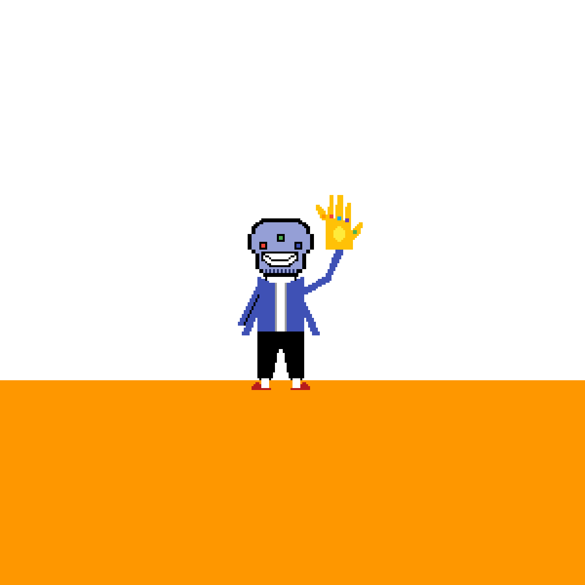 Differenttale Sans/Thanos by eatmydirtypixel