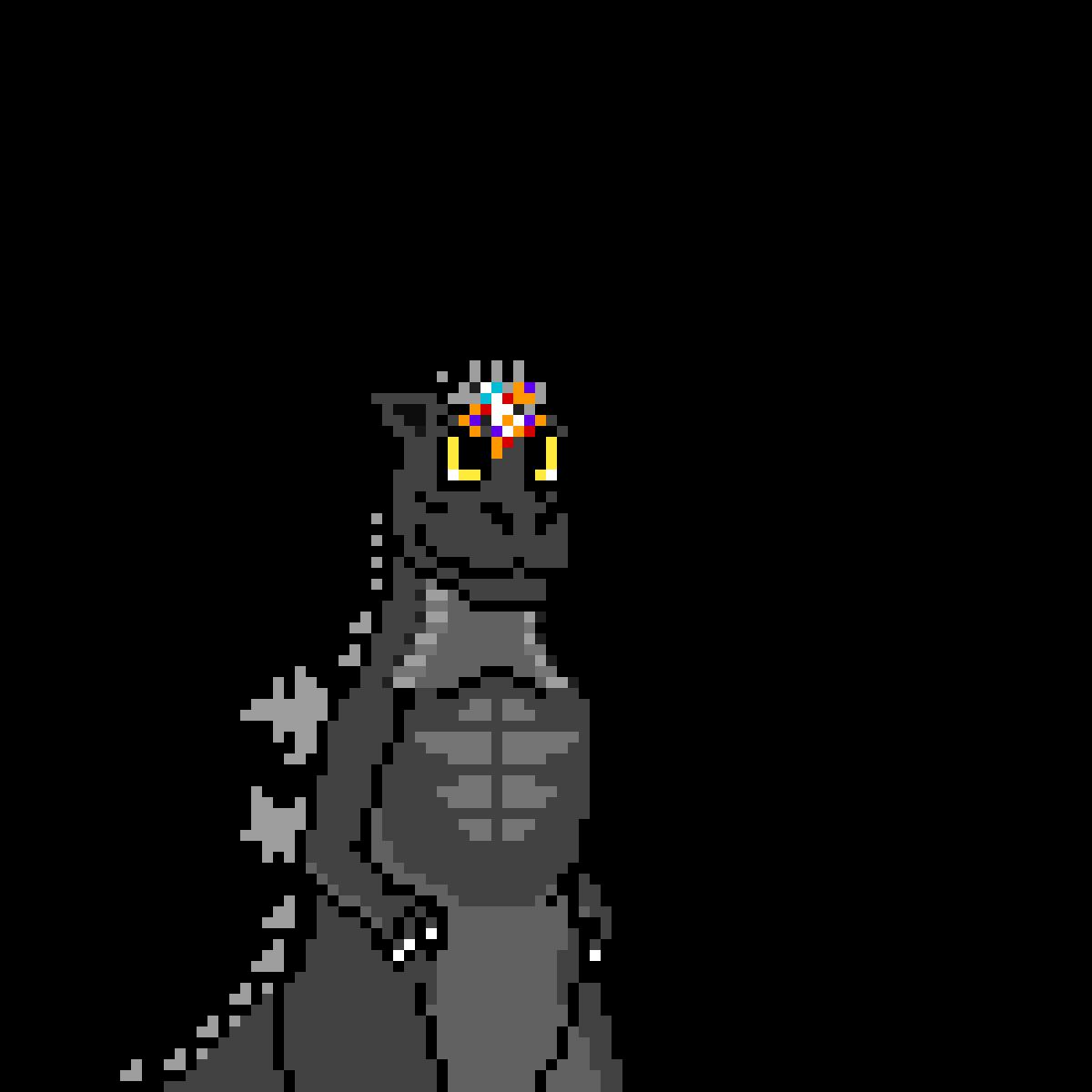 Baby Godzilla w/ a Fairy by KingAlaren