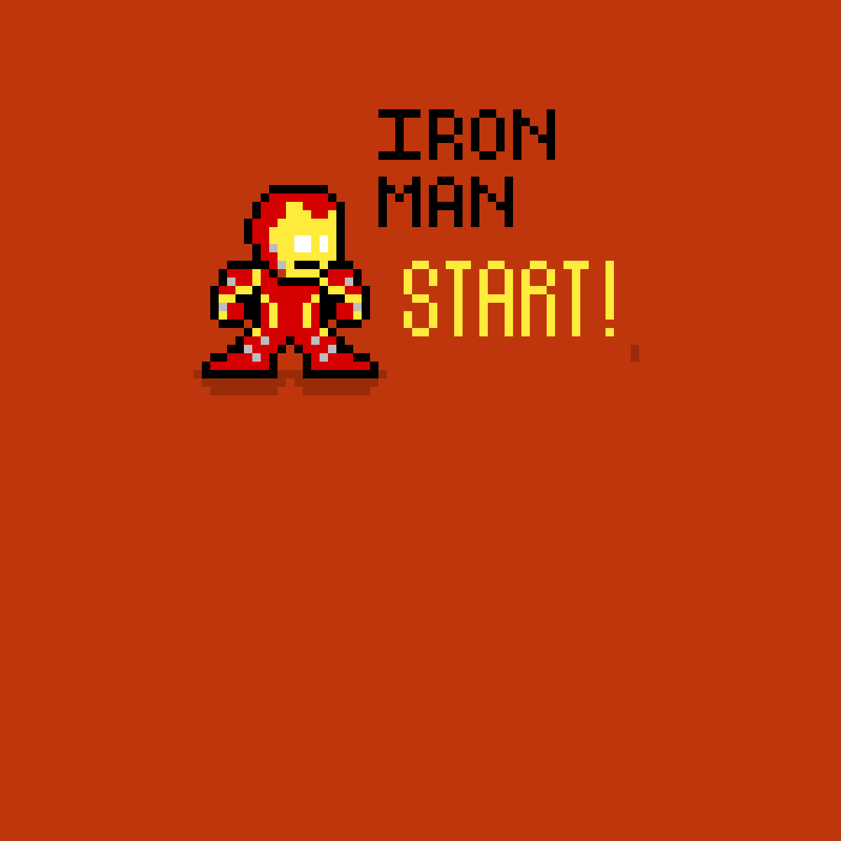 Iron man sprite by TheDestinedOne