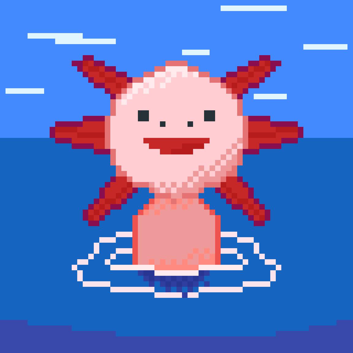 Happy Axolotl by Dat-Axolotl