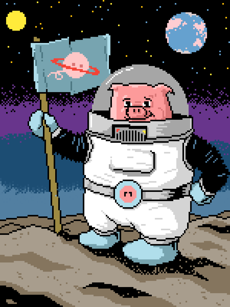 One small step for swine... by Dwetts
