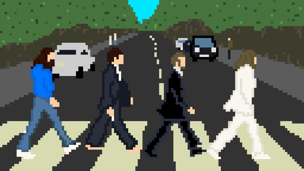 the beatles abbey road by aerinlily