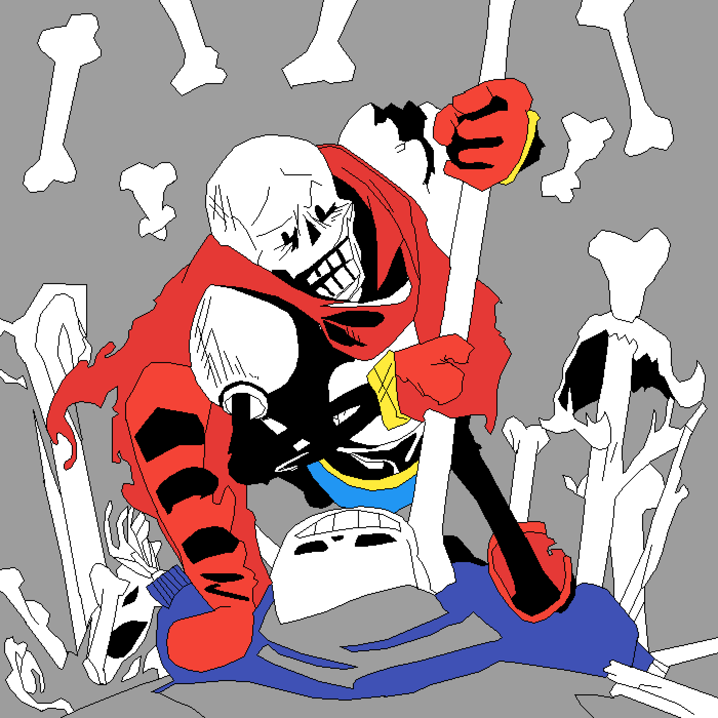 Pixilart - Dusttale Papyrus Takes a Stand by Thicccckque