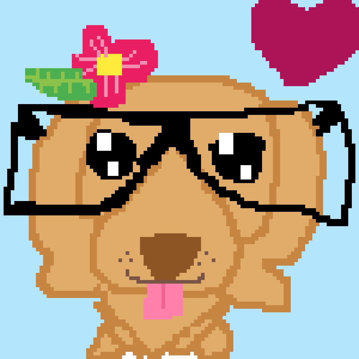 main-image-dog with glasses  by sparkleshywolf