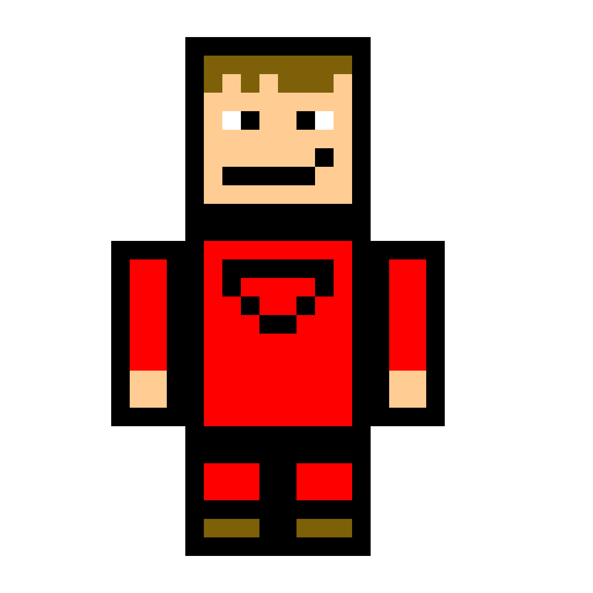 Pixilart Minecraft Person By Redroxpower52