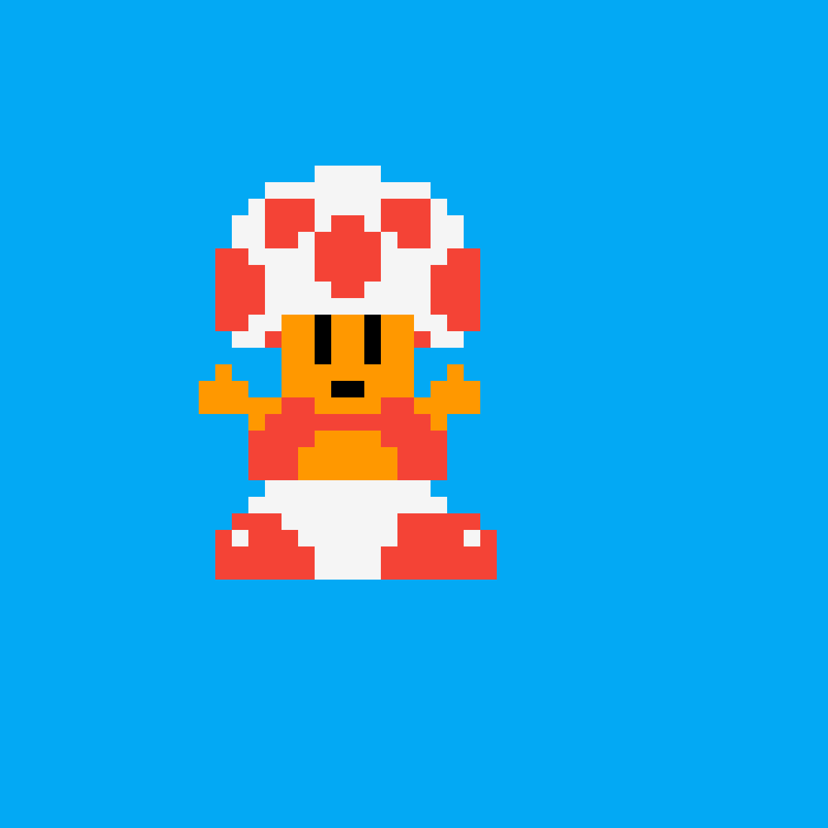 8 bit toad by obro1709