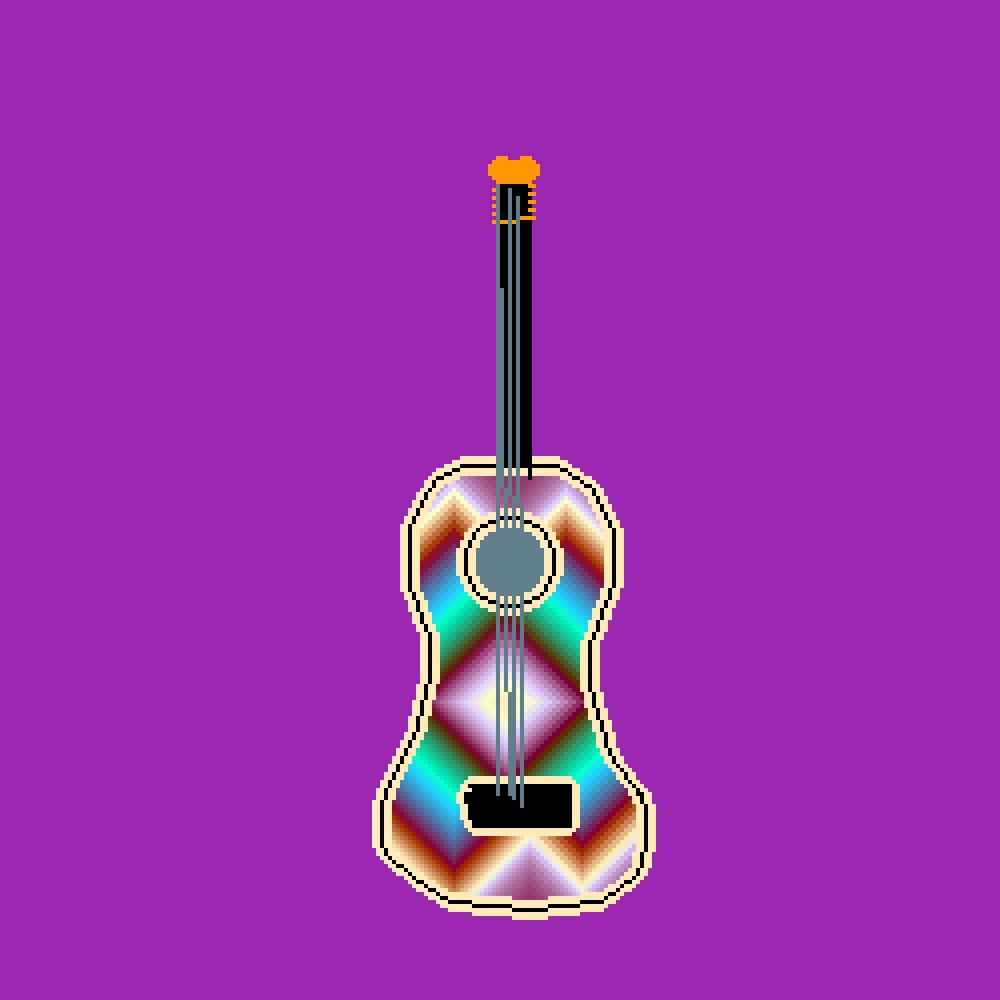 rainbow guitar by OL-RazzleDazzle