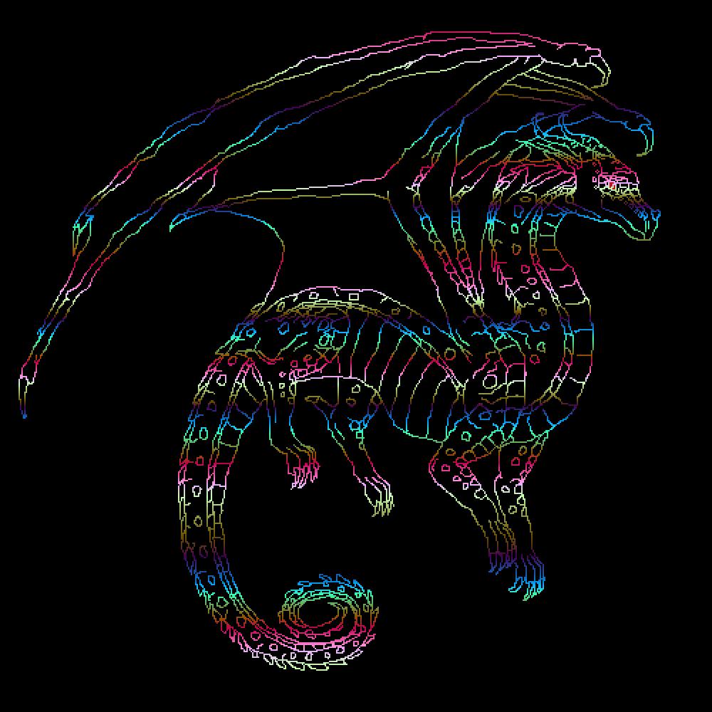 Rainbow Dragon  by Oliviaolivia