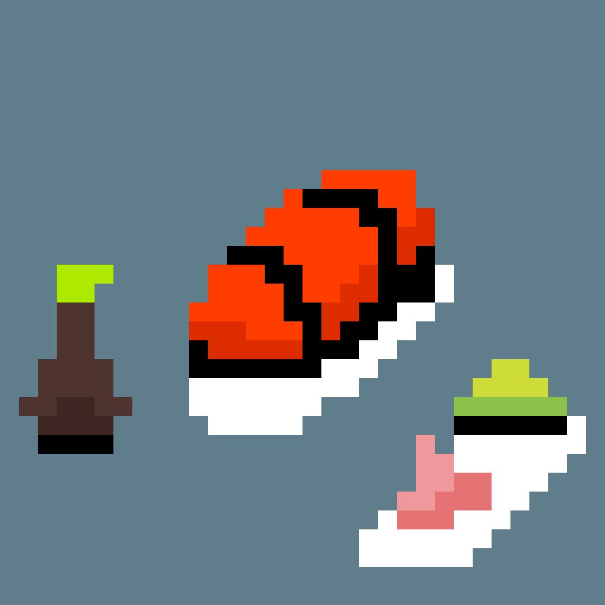Fish on rice by animatesam