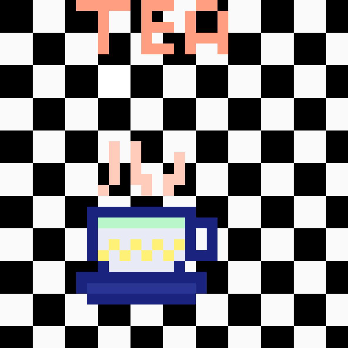 Tea Checkers by Swpie