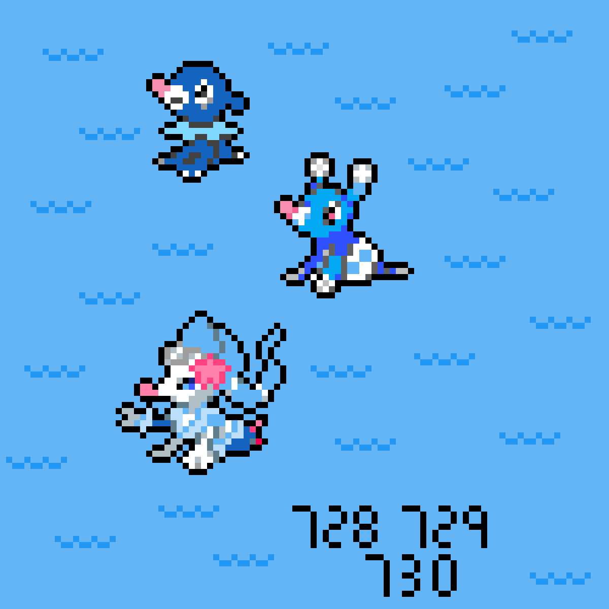 Pixilart Popplio Brionne And Primarina By Jolteon Trainer