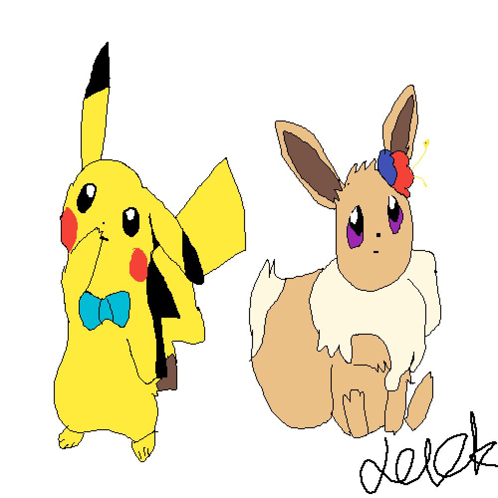 main-image-eevee and pikachu  by jackypoh123