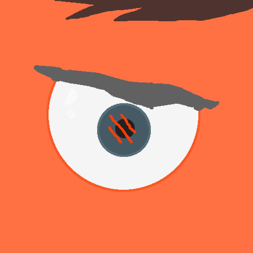 my oc's eye at least one of them by uwuowouwu