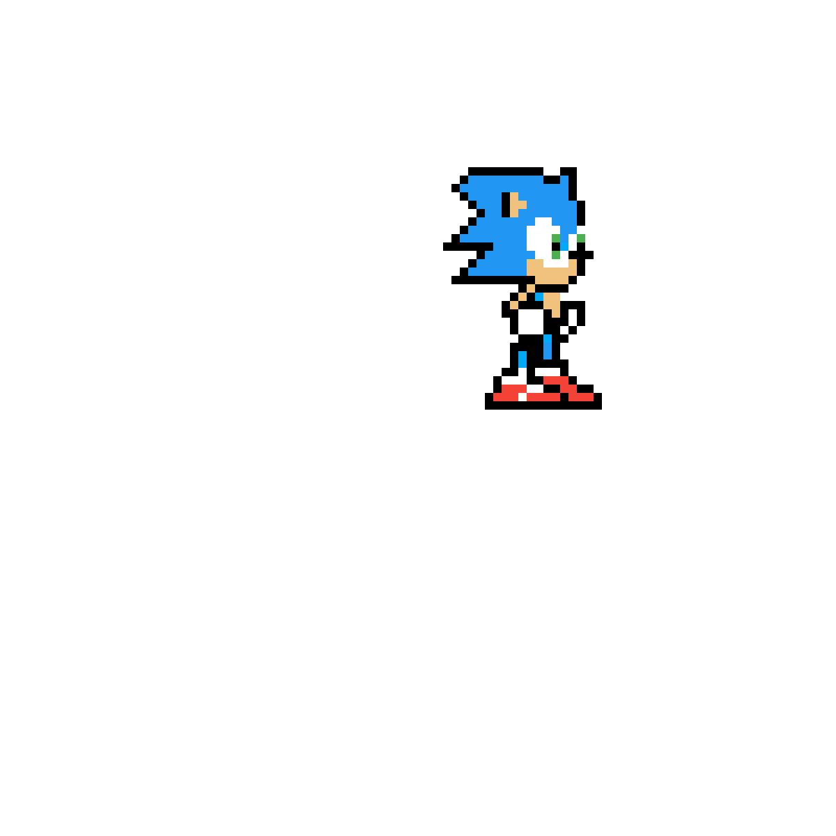 Pixilart 8 Bit Sonic The Hedgehog Classic Beta By Anonymous