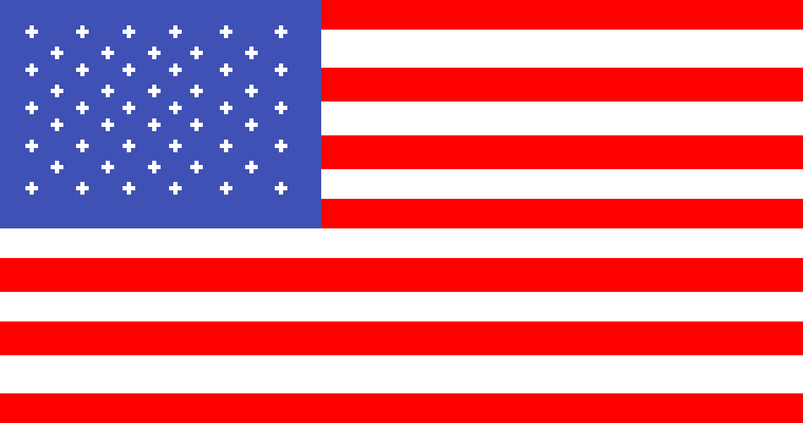 American flag by konnormoshier