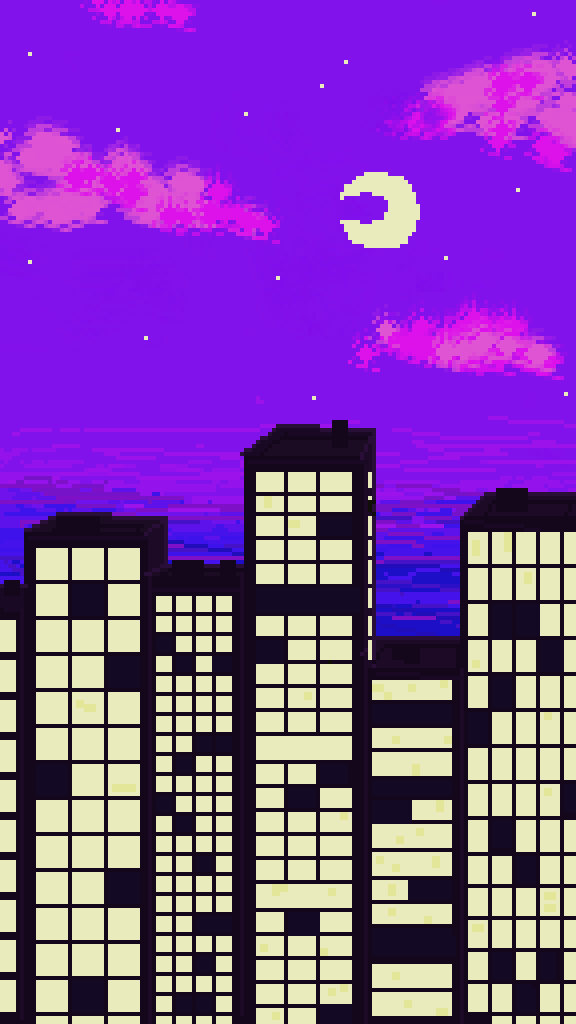 Pixelwave Skyline by DisgruntledFrog