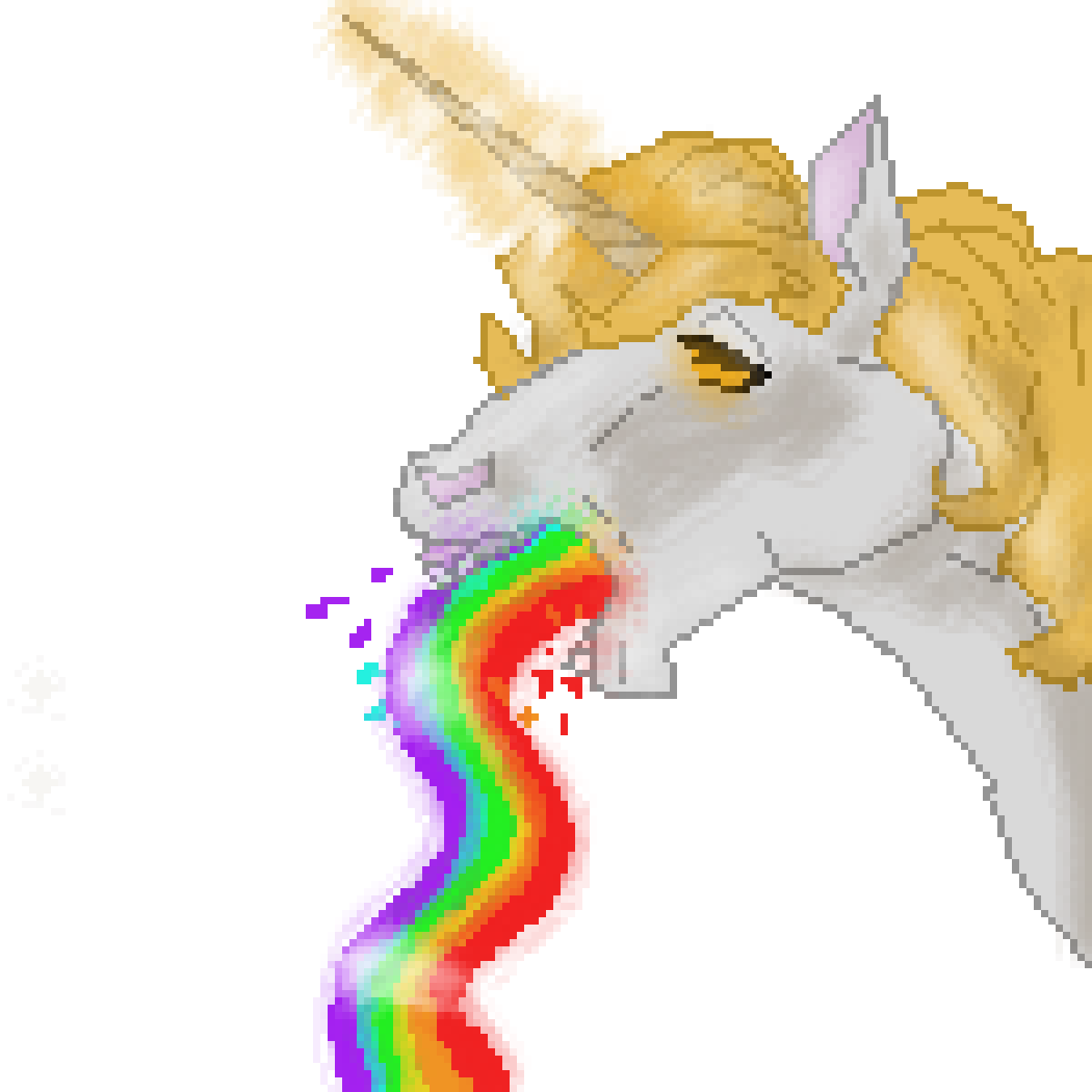 Throwing Up Rainbows by ScatteredLeaves