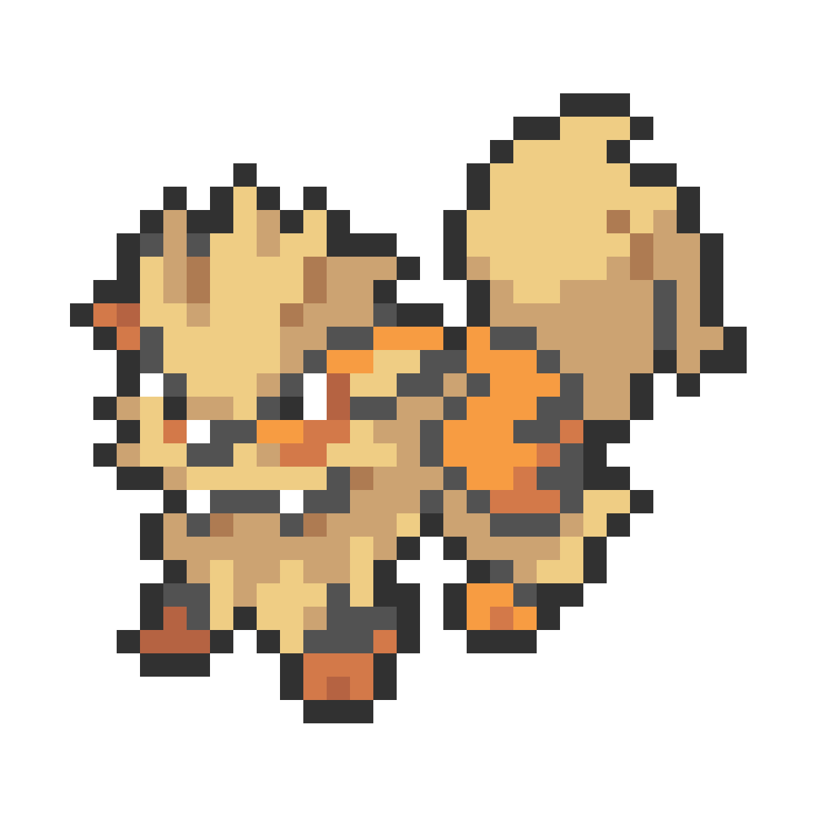 #059 Arcanine Mini Sprite by Andruru