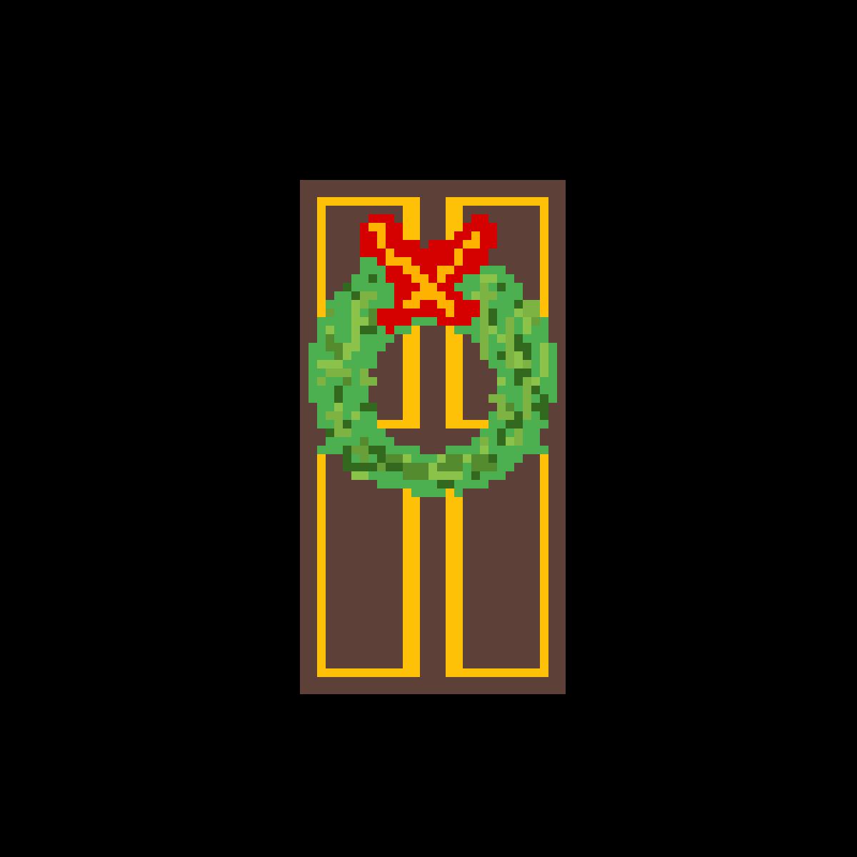 wreath on door by sedge123