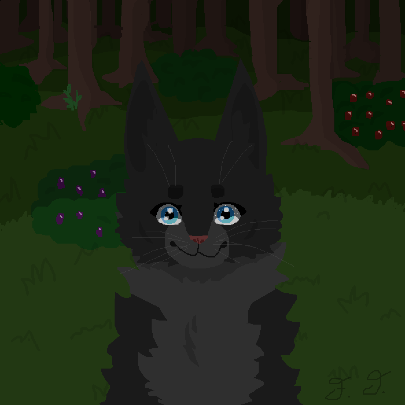 Cinderpelt by Nightfall by The-Frizzler