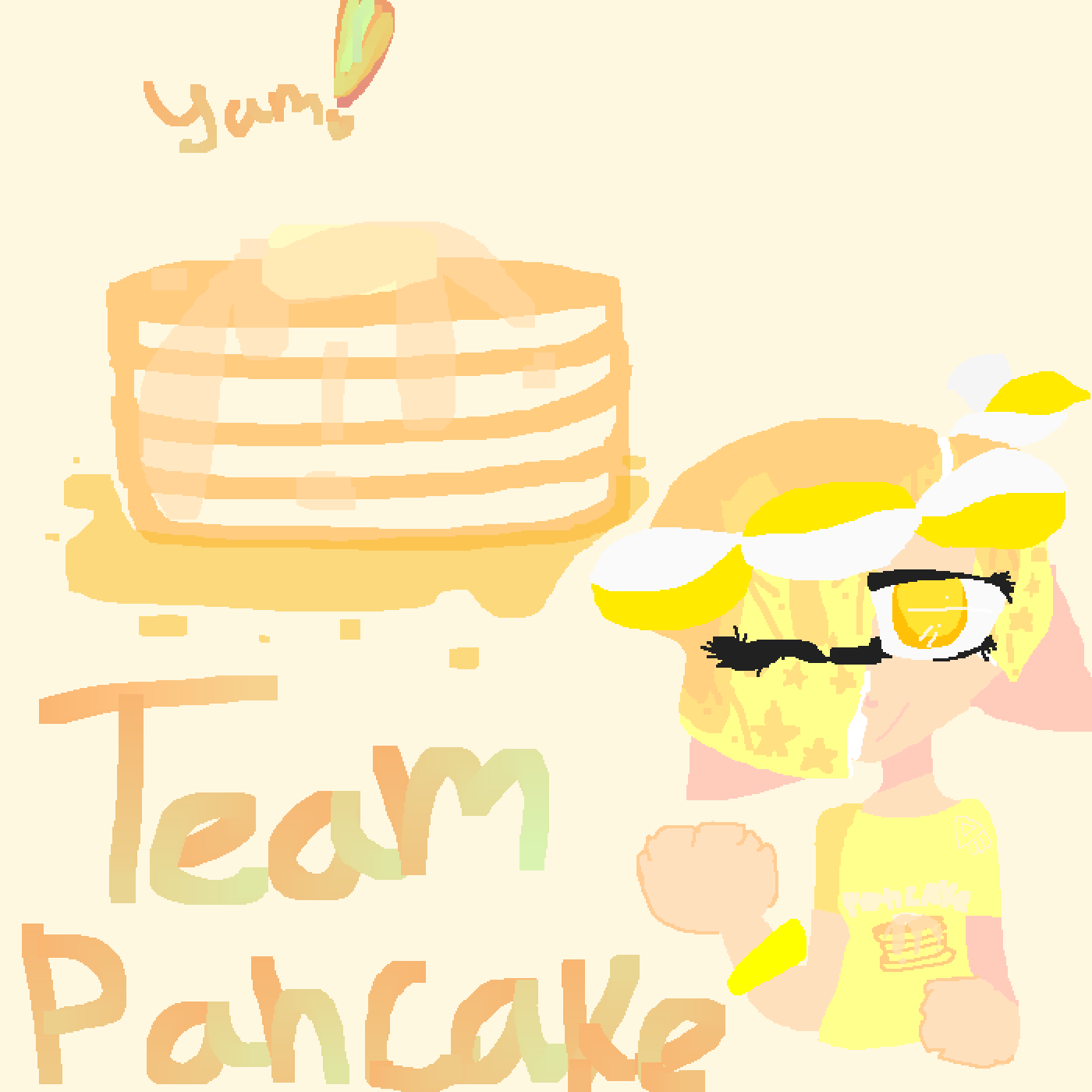 Lets Go Team Pancake! by onehellofakid