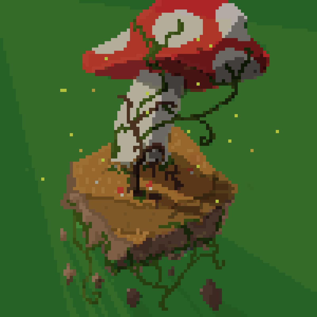 100 x 100 Mushroom Land by cybella