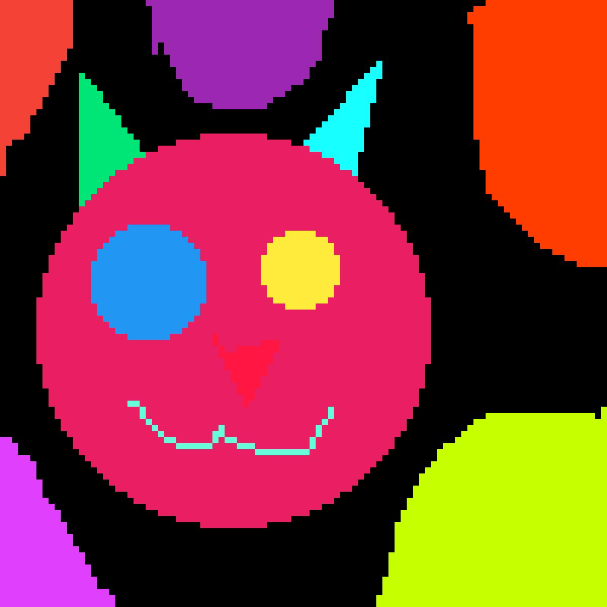 Neon Cat by NoodleCrona2D