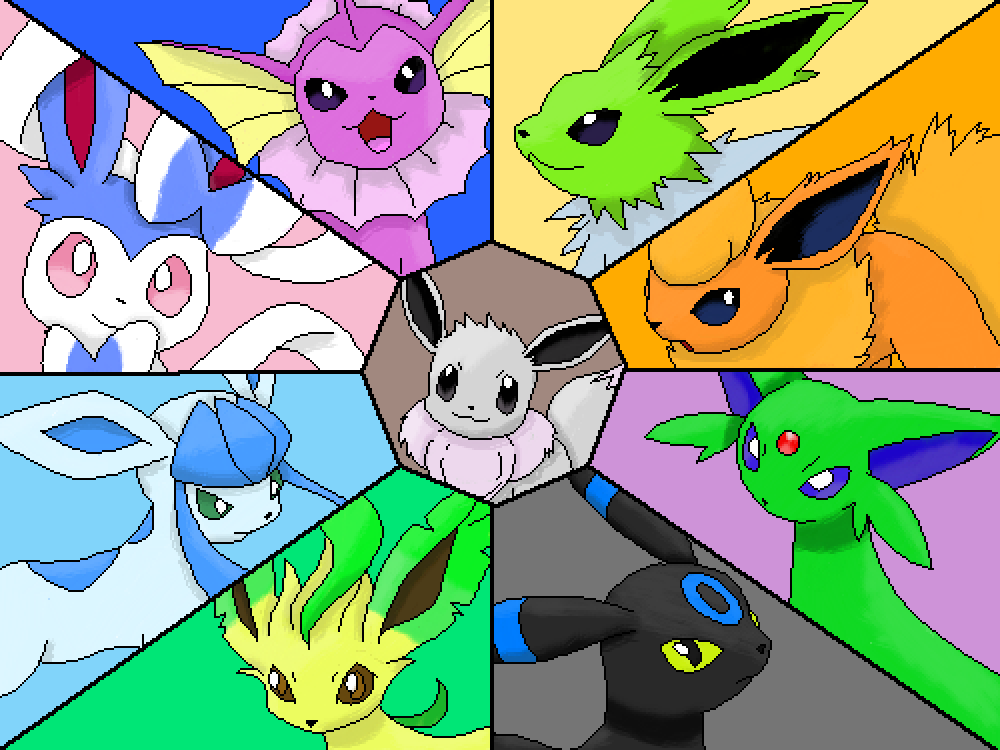 Shiny Eeveelutions by Tronblossum