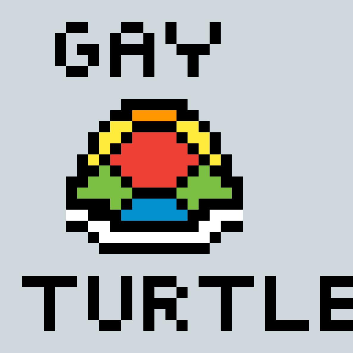 Gay turtle by pixelartgirl222