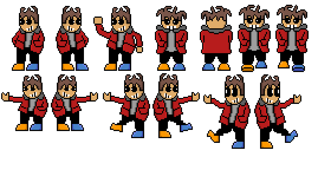sprite sheet with the walking